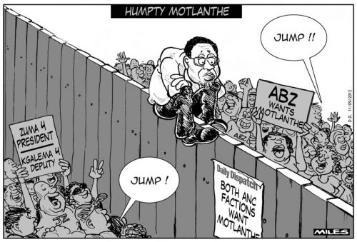 'Former Seat Warmer, Current Fence Sitter': Africartoons.com