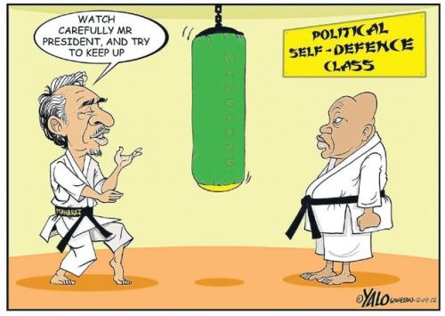 'Zuma Gets Defensive ': Africartoons.com