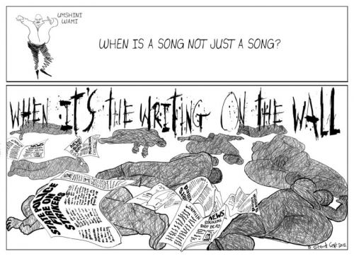 'The Writing on the Wall': Africartoons.com
