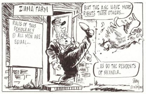 'Animal Farm in Zumaville': Africartoons.com