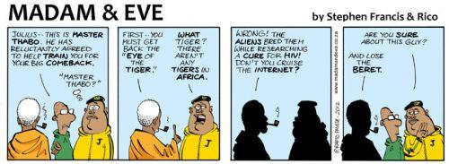 'Master Mbeki and the Comeback Kid': Africartoons.com