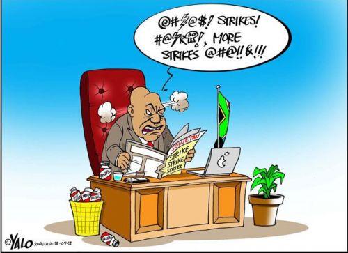 '£Ü¢k!n8 $t®!k€$!!!!': Africartoons.com