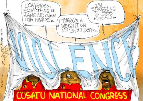 'With Violence on their Minds': Africartoons.com