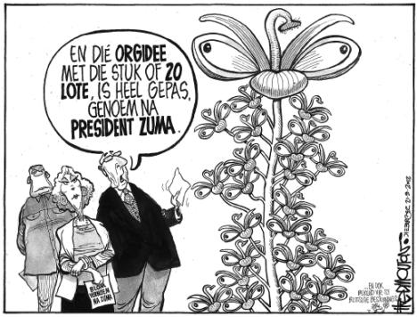 'That Orchid Moment...': Africartoons.com