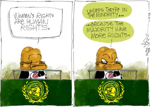 'Zuma Enlightens the UN on Human Rights': Africartoons.com