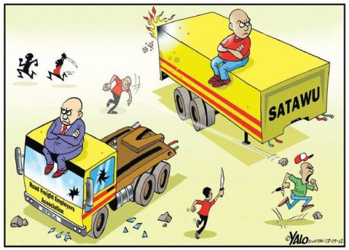 'Got a Truck With Their Wages': Africartoons.com