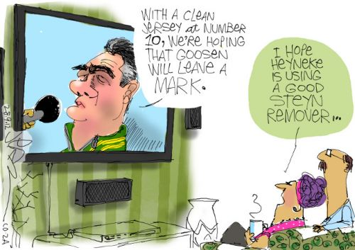 'Will Goosen Make his Mark?': Africartoons.com