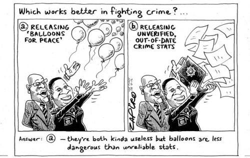'Releasing Dodgy Crime Stats': Africartoons.com