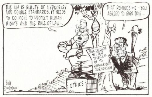 'Two Rights Made Wrong': Africartoons.com
