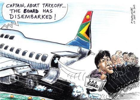 'SAA Directors Take Off': Africartoons.com
