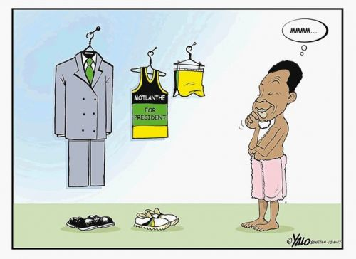 'Get Your Running Gear On Kgalema': Africartoons.com