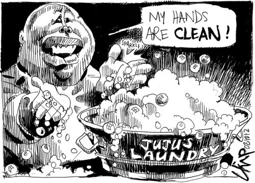 'One Hand Washes the Other': Africartoons.com