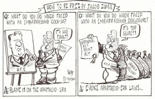 'Blame Apartheid, Thank Apartheid': Africartoons.com