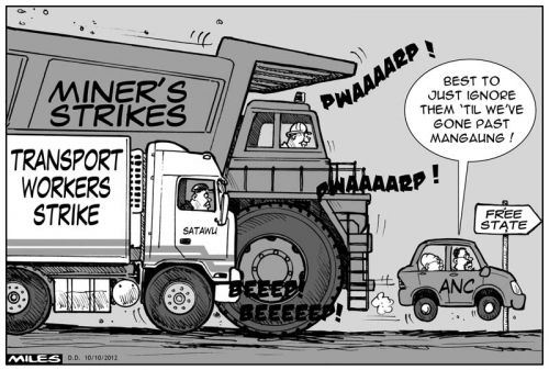 'More Trouble on the Road to Mangaung': Africartoons.com