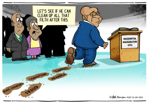 'Filling his Filthy Shoes': Africartoons.com