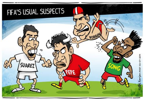 'FIFA'S USUAL SUSPECTS': Africartoons.com
