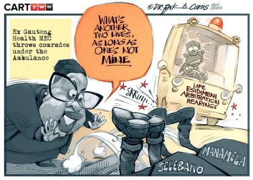 'Thrown Under The Ambulance': Africartoons.com