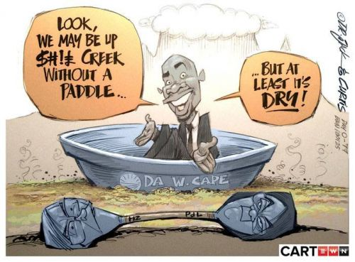 'Up Sh*t Creek': Africartoons.com