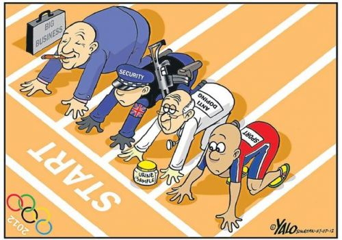 'Keeping the Olympics on Track ': Africartoons.com