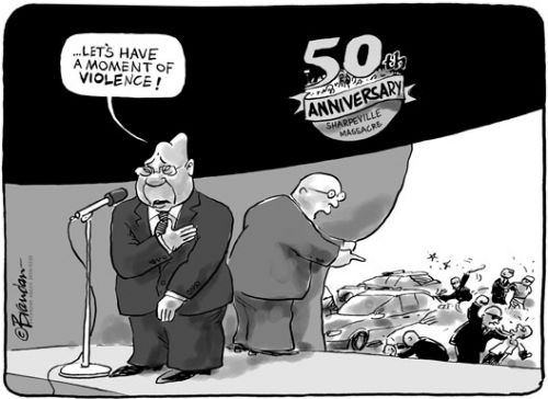 'Remembering Sharpville': Africartoons.com