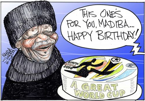 'This one's for you Madiba, Happy Birthday!': Africartoons.com