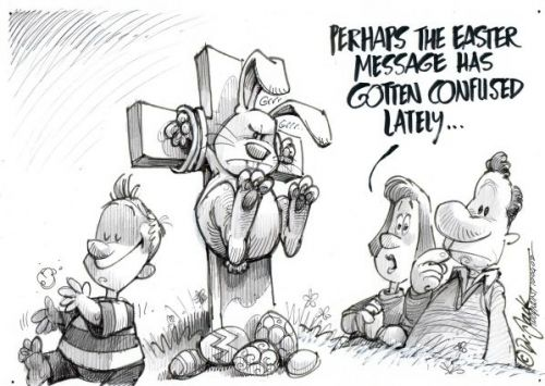 'Easter Mixed Messages': Africartoons.com