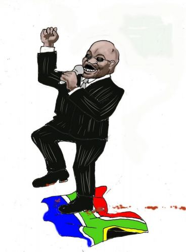 'Zuma treads on SA values': Africartoons.com