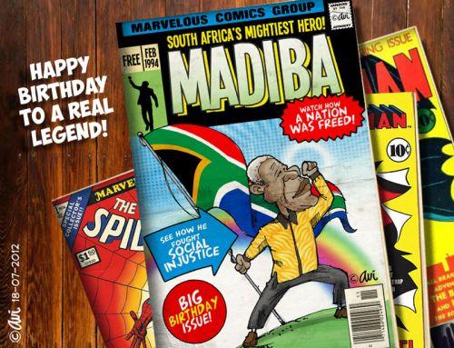'MADIBA - A REAL HERO!': Africartoons.com
