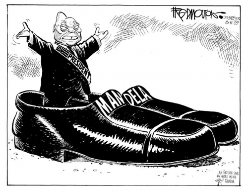 '2009: Filling Mandela's Shoes': Africartoons.com