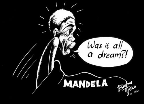 'BLACK TUESDAY | Cartoon by Baba Tjeko': Africartoons.com
