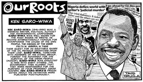 'Ken Soro-Wiwa': Africartoons.com