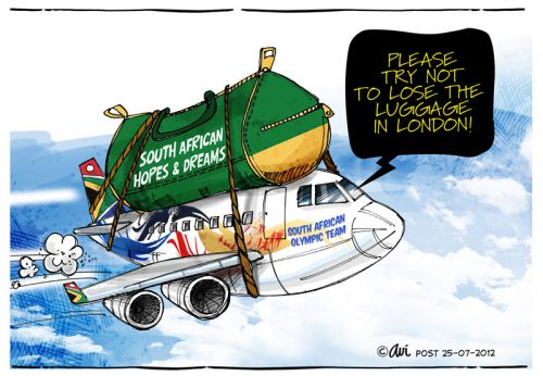 'Olympic Bag of Dreams': Africartoons.com