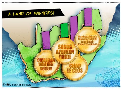 'A LAND OF WINNERS': Africartoons.com