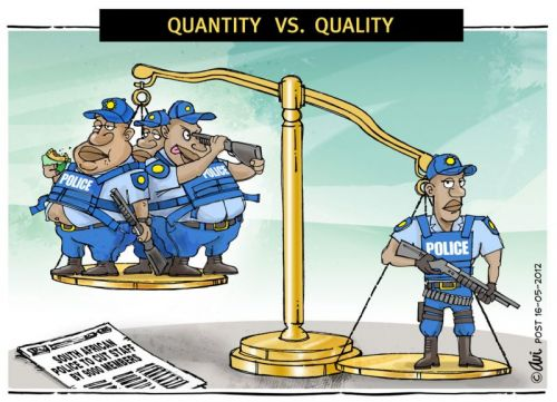 'SAPS scales Down': Africartoons.com