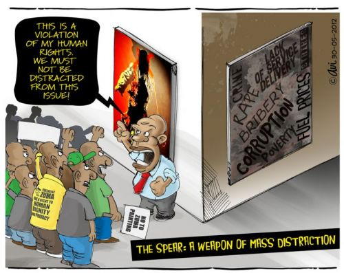 'The Spear: A Weapon of Mass Distraction': Africartoons.com