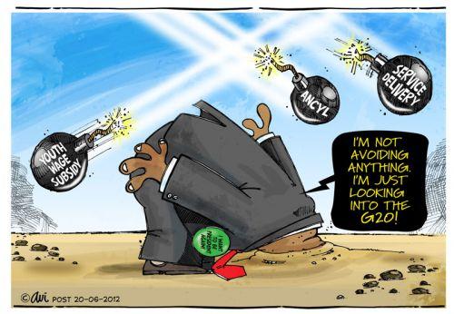 'Avoiding the Issues': Africartoons.com