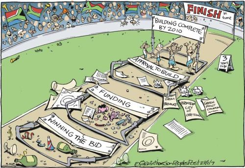 'Hurdling towards 2010': Africartoons.com