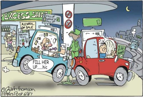 'Drinking and Driving': Africartoons.com