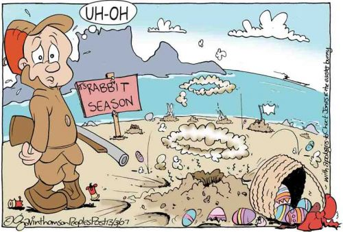 'Wabbit Season on Robben Island': Africartoons.com