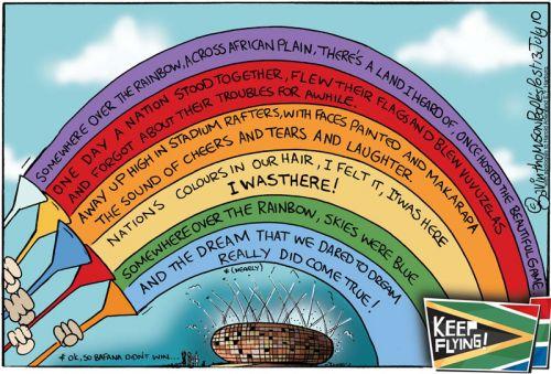 'Somewhere over the rainbow (nation)...': Africartoons.com