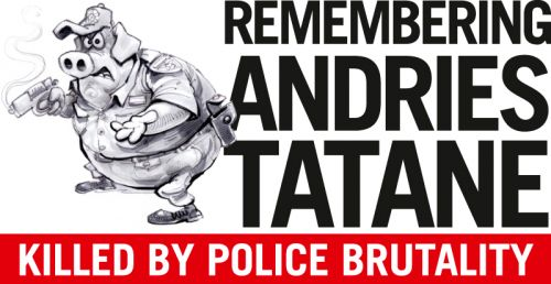 'Andries Tatane : One Year Later': Africartoons.com