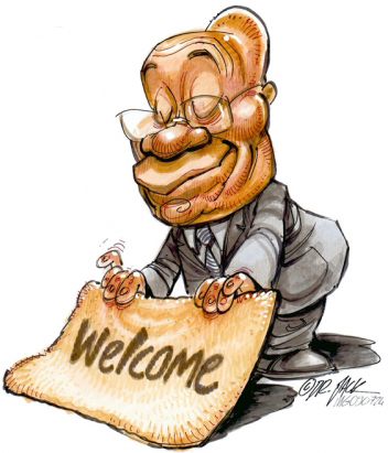 'Welcome to South Africa!': Africartoons.com