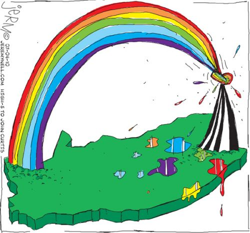 'Rainbow's End?': Africartoons.com