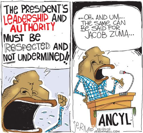 'Leading by Example?': Africartoons.com