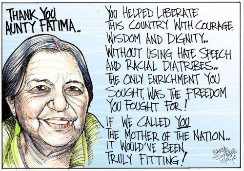 'Thank you Aunty Fatima': Africartoons.com