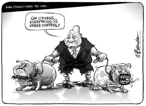 'Zuma Finally Takes the Lead': Africartoons.com