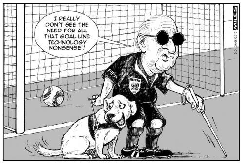 'Blatter's Guide Dog': Africartoons.com