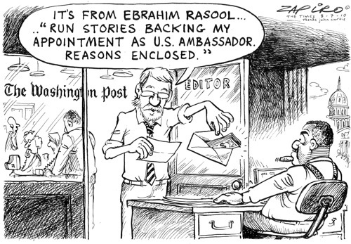 'Rasools Diplomatic Post': Africartoons.com