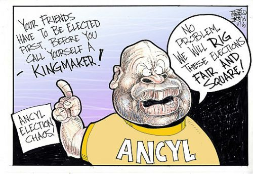 'ANCYL Factions = Divide + Rule': Africartoons.com
