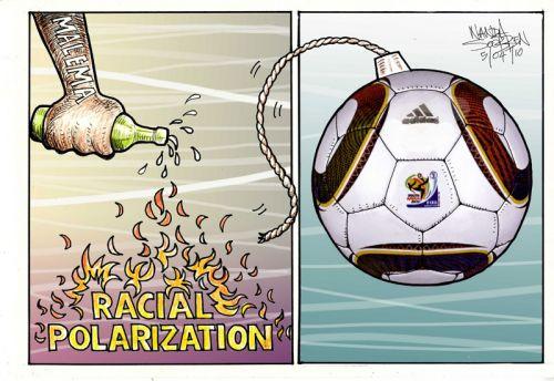 'Racial Polarisation': Africartoons.com